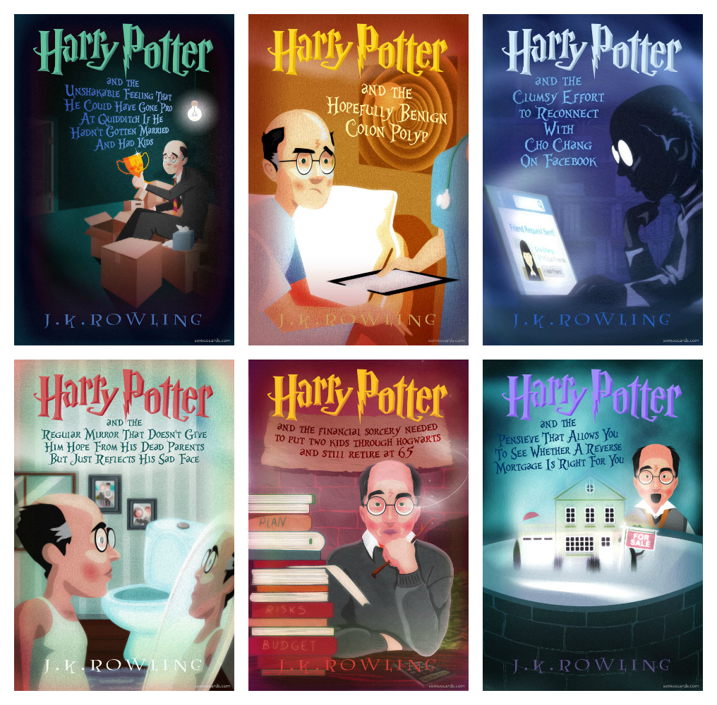 Harry Potter Midlife Crisis Book Covers