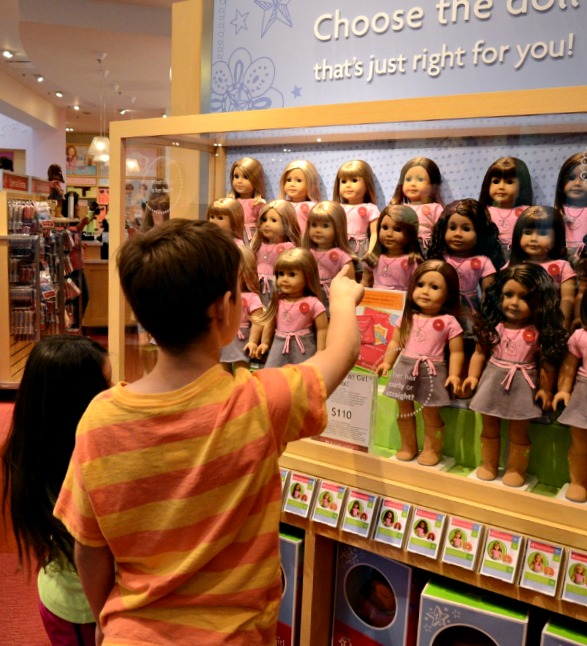 Picking Out an American Girl Doll