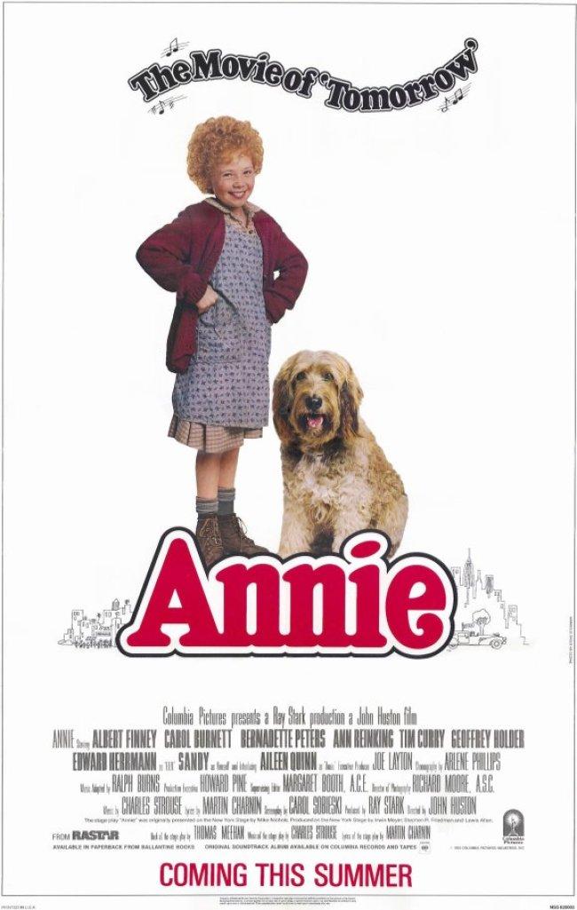annie movie poster 1982