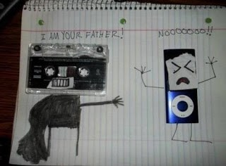 Cassette Tape is fathe to iPod