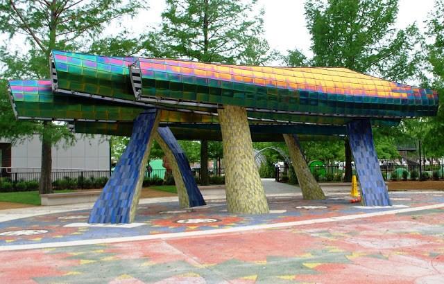 Myriad Gardens Children's Playground Fountain Sprayground
