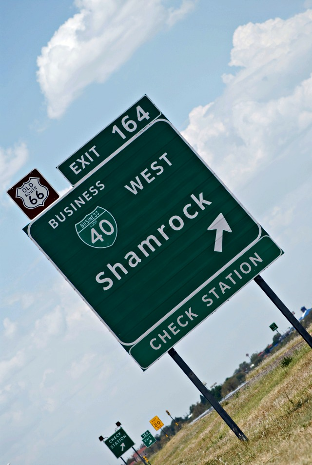 Shamrock Texas Route 66 Road Sign