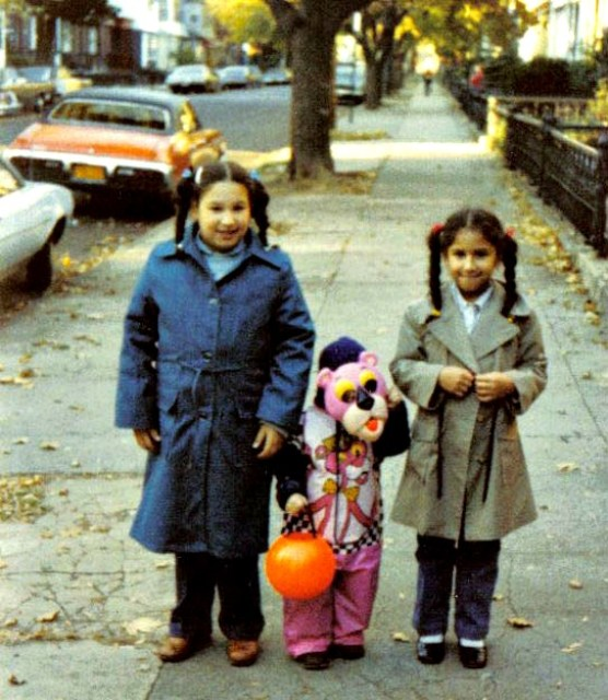 East New York | Children trick-or-treat in the late 1970s including the Pink Panther, a Ben Cooper costume.
