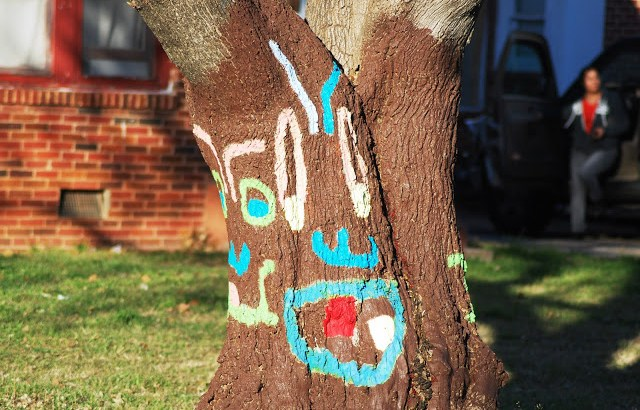 Tree with a happy face
