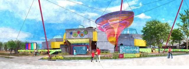 architectural rendering of OKC Children's Museum