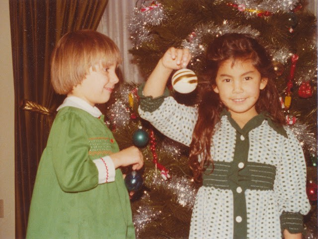 Jennifer and Heather Christmas 1978