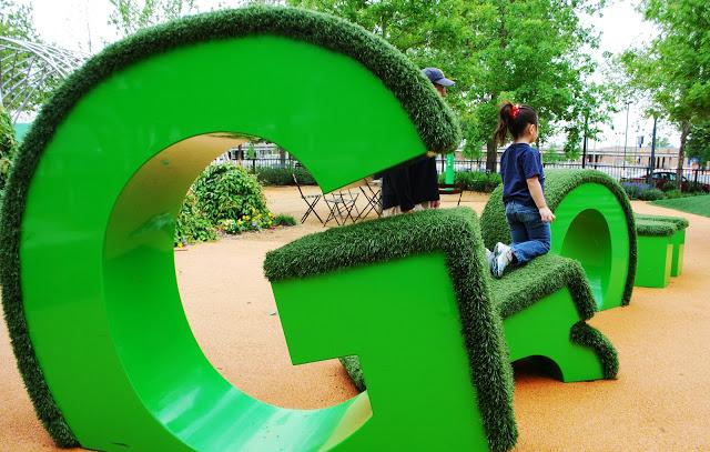 Myriad Gardens Children's Playground GROW Sign