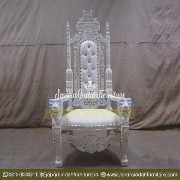 King Chair Kursi Raja Kepala Singa Ukiran Jati