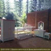 Set Tempat Tidur Anak Perempuan Minimalis Love Pinky