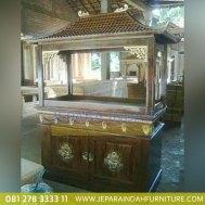 Harga Jual Lemari Aquarium Jati Ukir Bunga 2 Pintu (HDF LAQ 001 2D)