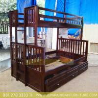 Jual Dipan Tempat Tidur Anak Tingkat Minimalis Laci 3