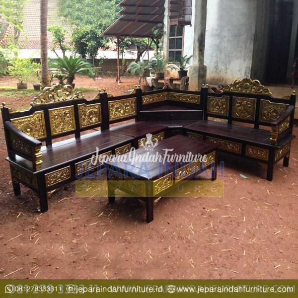 Pusat Jual Kursi Sudut Mawar Mahkota Kayu Jati (LRF KTS 001)