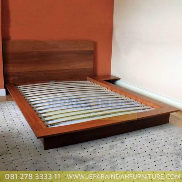 Jual Tempat Tidur Minimalis Panggung Kayu Jati