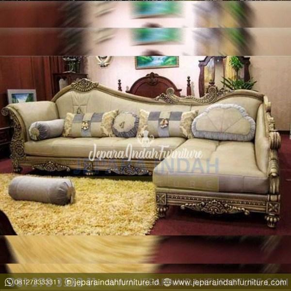 Jual Sofa Sudut Mewah Ruang Tamu Ukiran Klasik Elegant