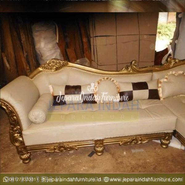 Jual Sofa Sudut Mewah Ruang Tamu Ukiran Klasik Jepara