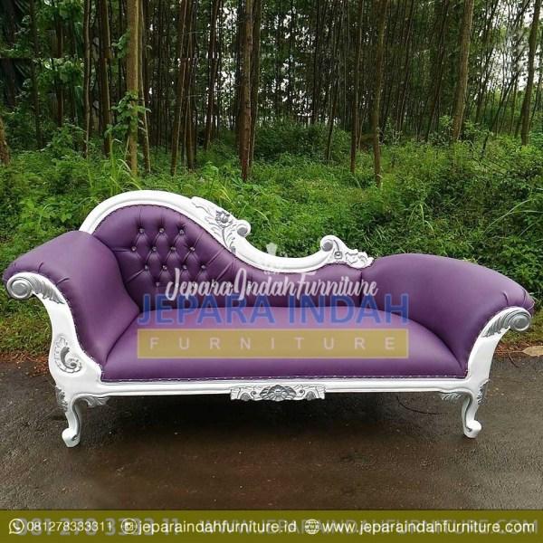 Pusat Jual Sofa Single Louis Putih Silver