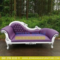 Pusat Jual Sofa Single Louis Putih Silver