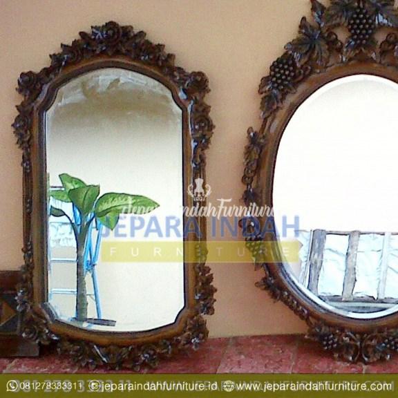 Harga Jual Cermin Hias Jati Ukir Klasik (HDF PCH 002)