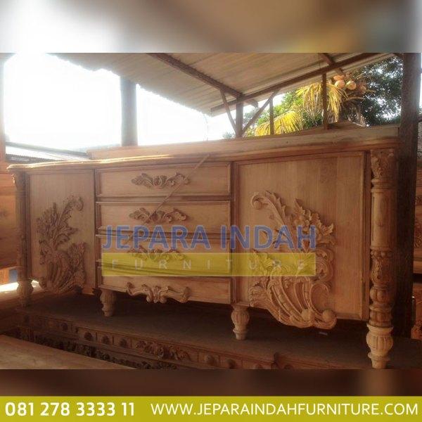 Info Jual Buffet Jati Kian Santang Ukir Mewah (LRF BFS 011)
