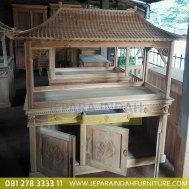 Info Jual Lemari Aquarium Jati Ukir Bunga 3 Pintu (HDF LAQ 001 3D)