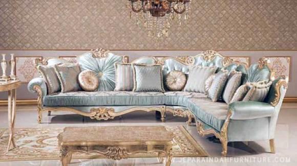 sofa sudut mewah ruang tamu rumah