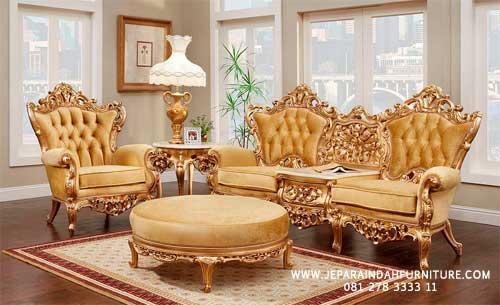 Furniture Jati Jepara Untuk Ruang Keluarga Konsep Glamour Mewah