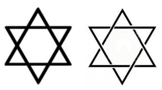 sceau de salomon 2 triangles entrecroisés