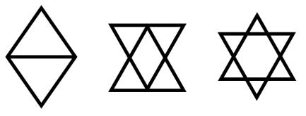 Du losange au sceau de salomon