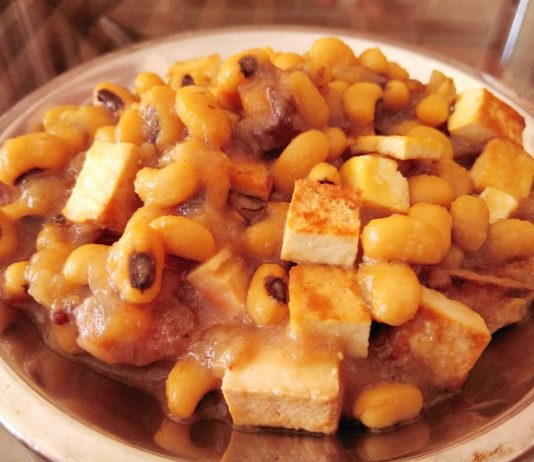 Recette du ragout de haricots au Vadouvan et tofu fumé
