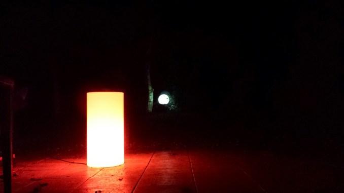 Lumières d'ambiance dans le jardin