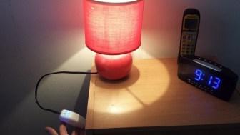 Lampe de chevet avec un nouvel interrupteur (manuel ou domotique)
