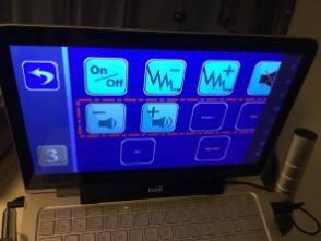 Page de contrôle de la chaîne Hi-Fi