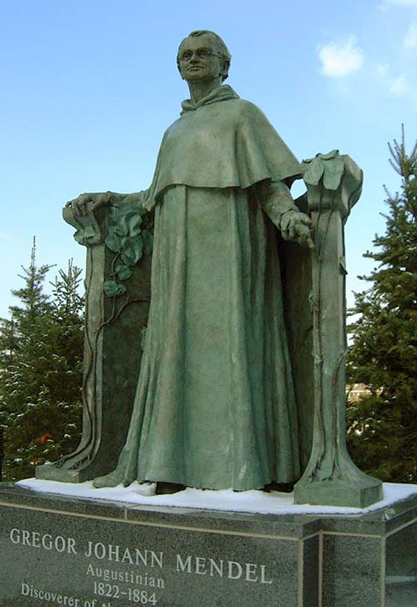 James Peniston Sculpture Gregor Mendel 1998