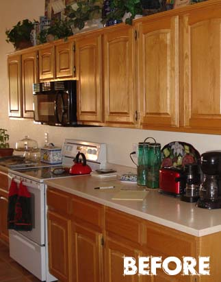 Refinish honey oak cabinets for Best way to refinish oak kitchen cabinets