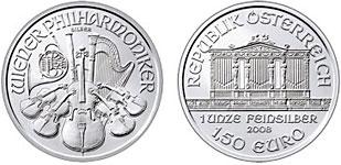 Silver Vienna Philharmonic coin