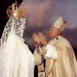 Pope prays to Mary