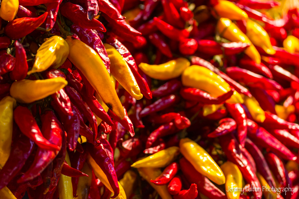 Lots of Paprika Peppers in Budapest Hungray