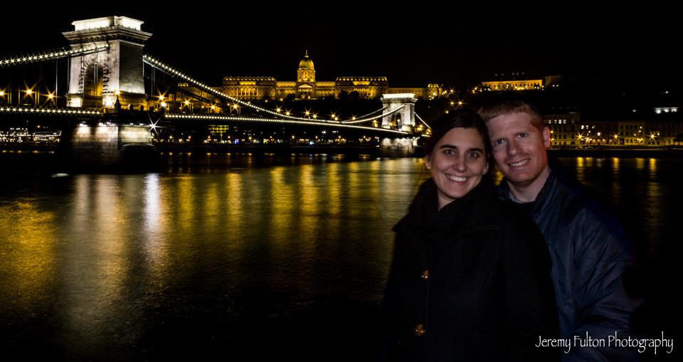 Jeremy and Jamie at Chain Bridge at Night