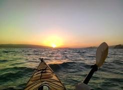 Kayaking into the Sunset #throughglass