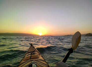 Kayaking into the Sunset #throughglass