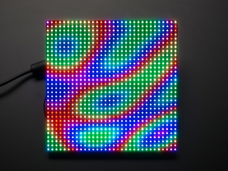 32x32 6mm pitch LED RGB Panel (Image courtesy Adafruit Industries)