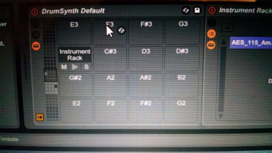 Ableton Drum Kit with default DKK-AI mapping