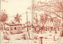 Croquis de voyage aux Fijis.