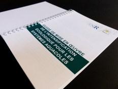 Mise en page du livre «Guide pour la mise en oeuvre de l'intensification écologique pour les écosytèmes aquacoles» pour l'université de Montpellier.