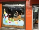 Peinture de noël sur une vitrine de boulangerie (2019)