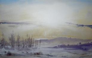 "Winter landscape Dorset 12x8"" £700"