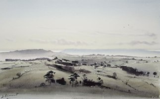 """view over Mapperton from Hooke rd £840 16""""x 10"""""""