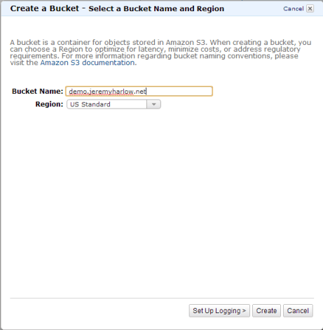 Hosting a static website in an Amazon S3 bucket