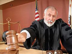 Judge using his gavel