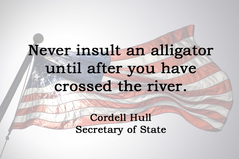[No.28] Cordell Hull on Insults